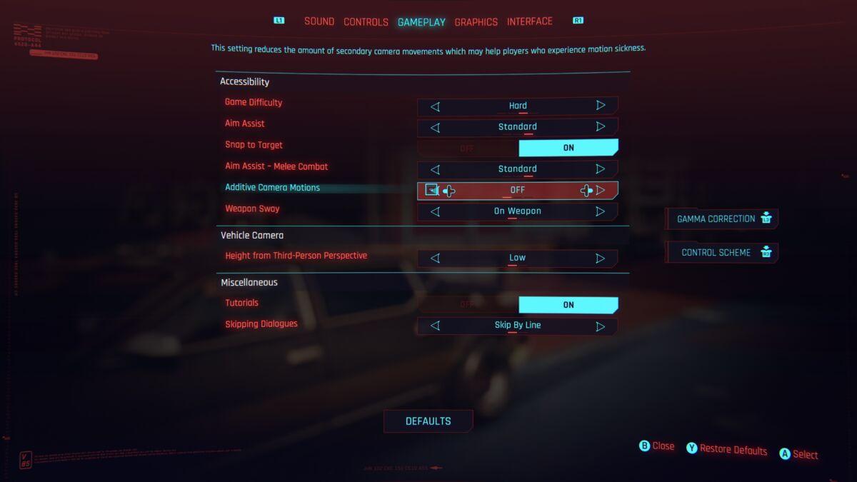 cyberpunk 2077 nausée