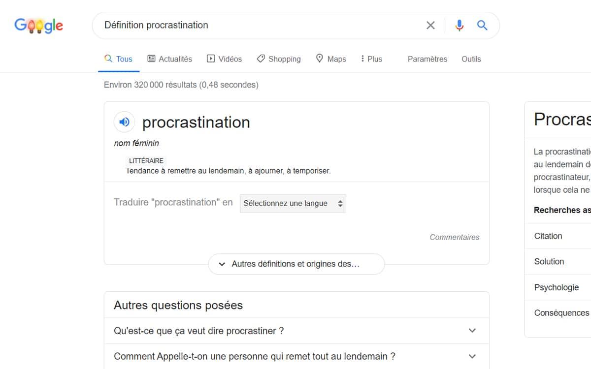 google procrastination
