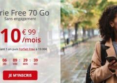 forfait Free 70 Go decembre 2020