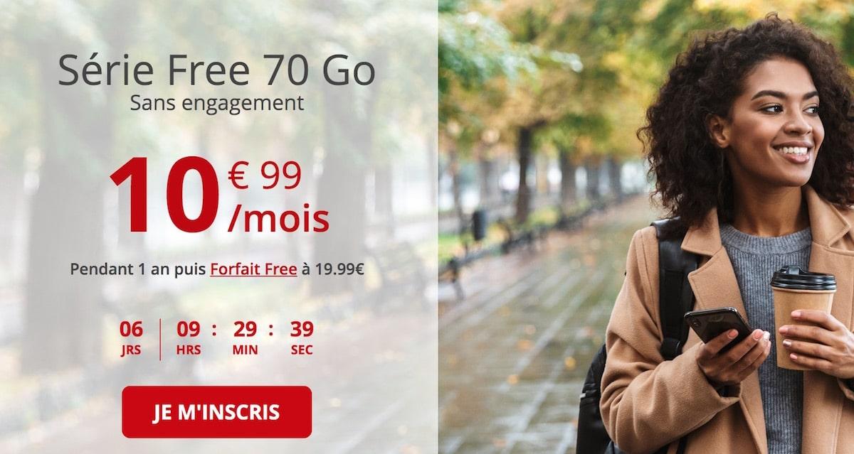 Free Mobile 70 Go plan December 2020