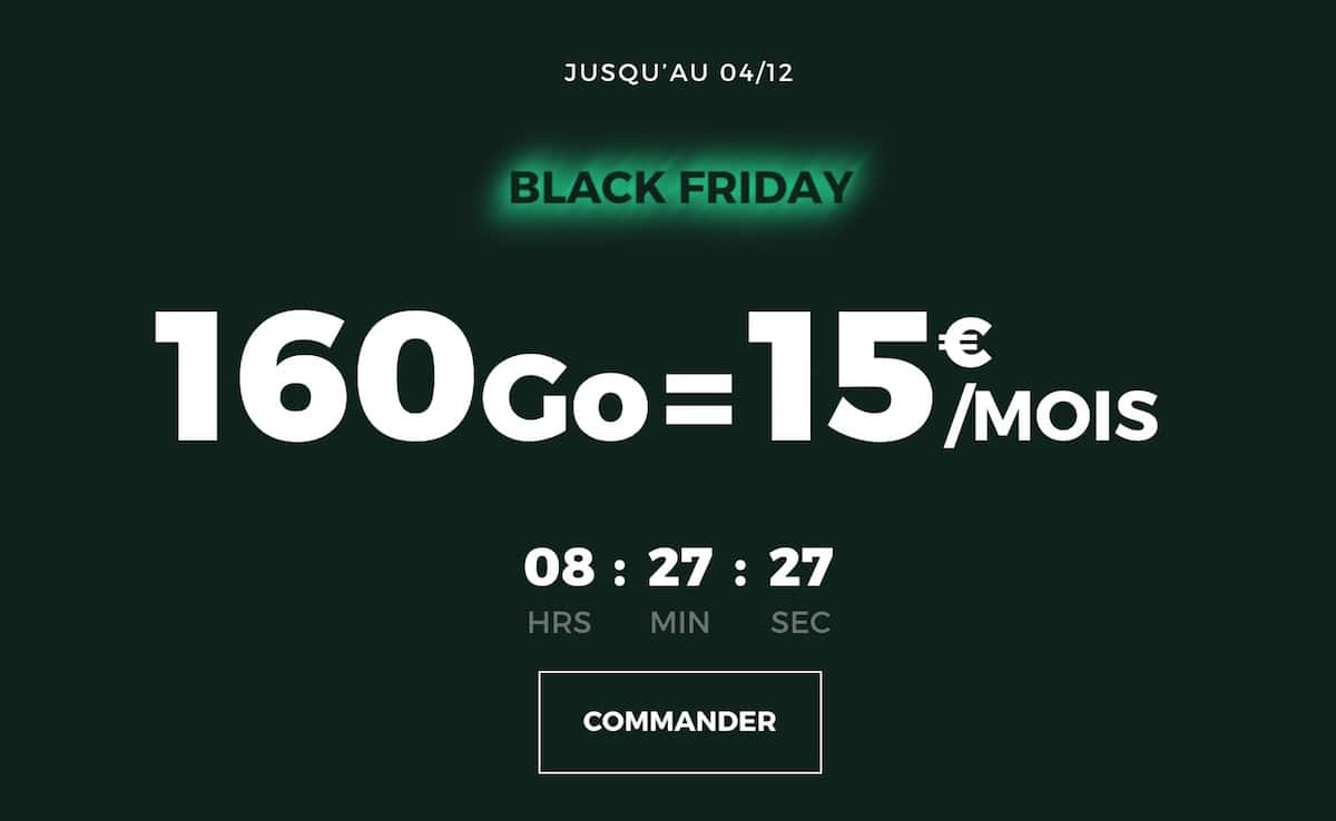 forfait mobile 160 Go RED by SFR pour le Black Friday
