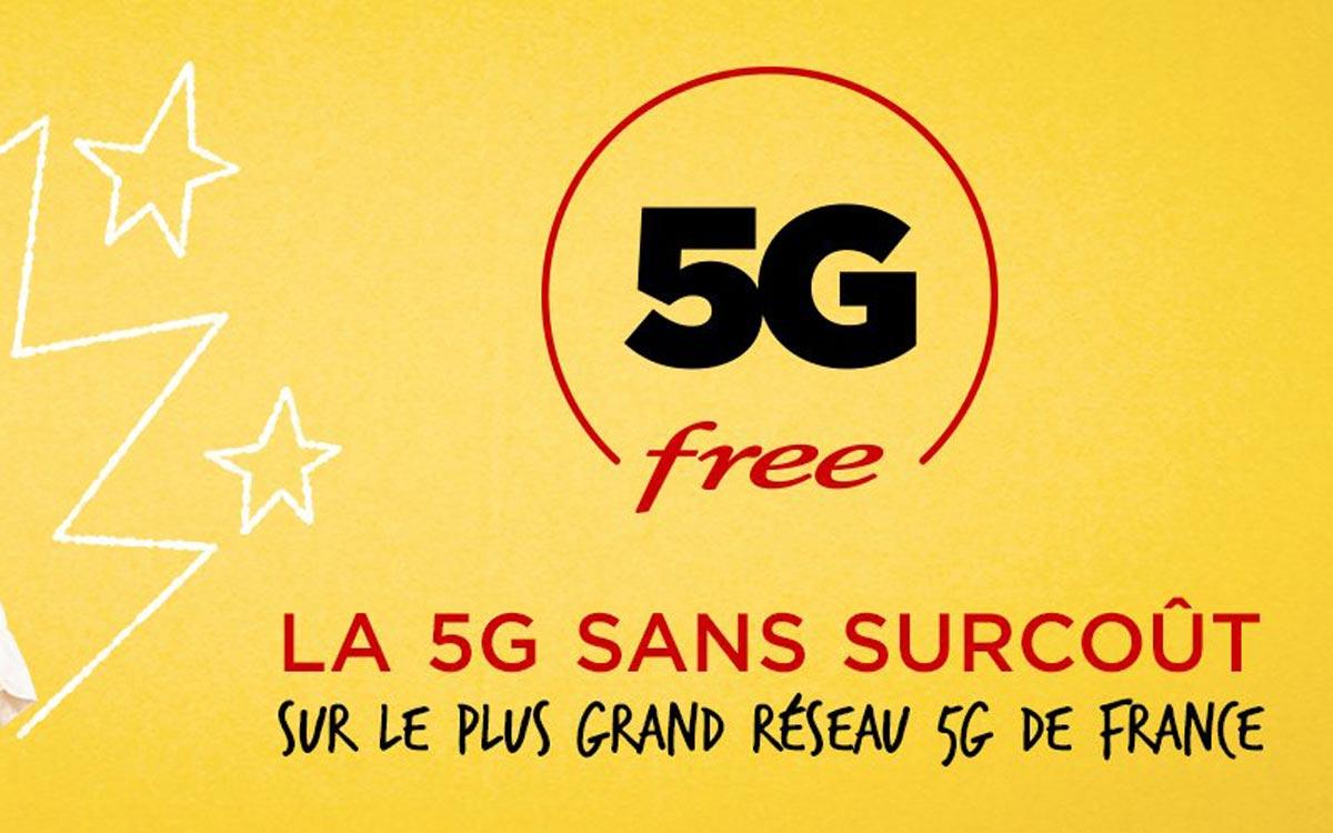 Forfait Free mobile 5G sans augmentation de prix