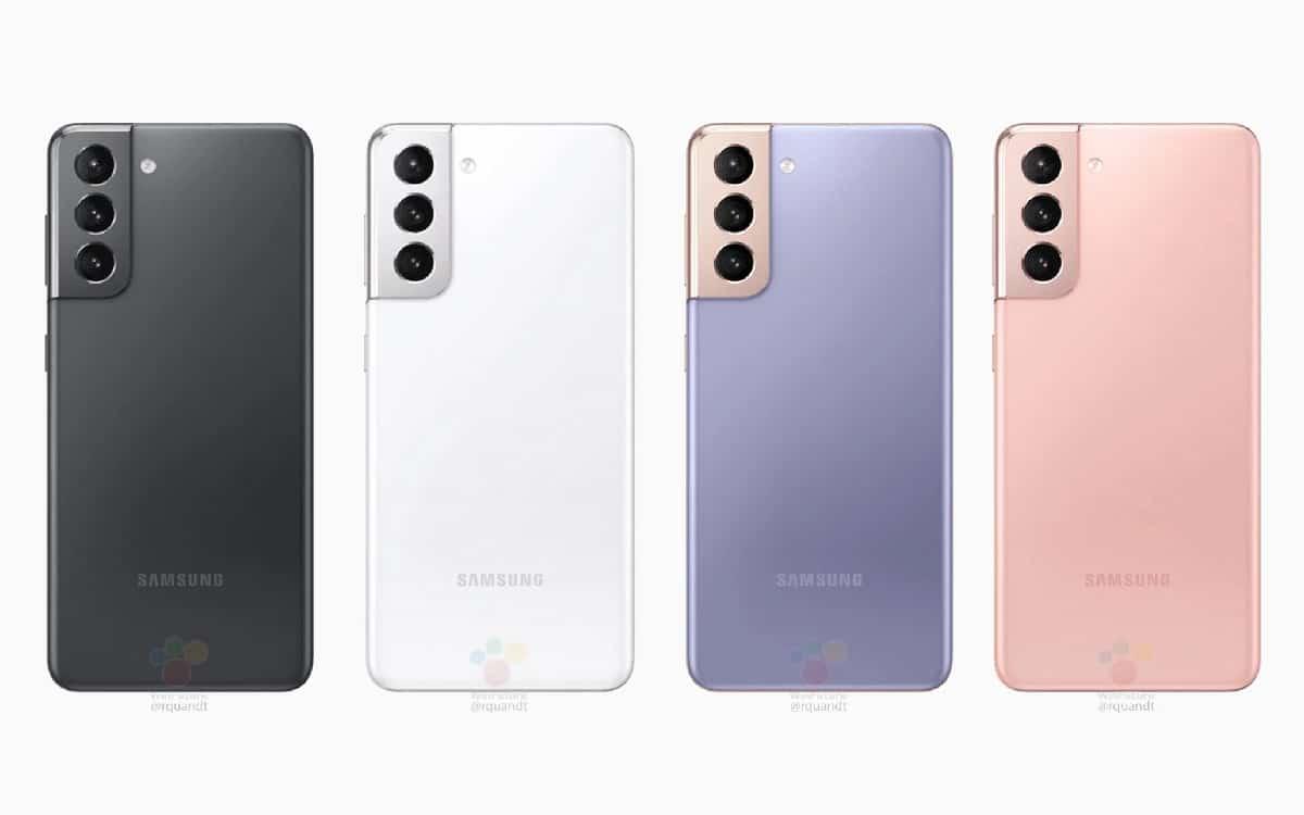 Samsung Galaxy S21 fuite coloris