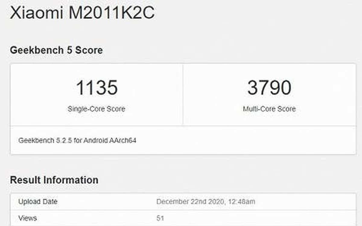 Xiaomi Mi 11 benchmark