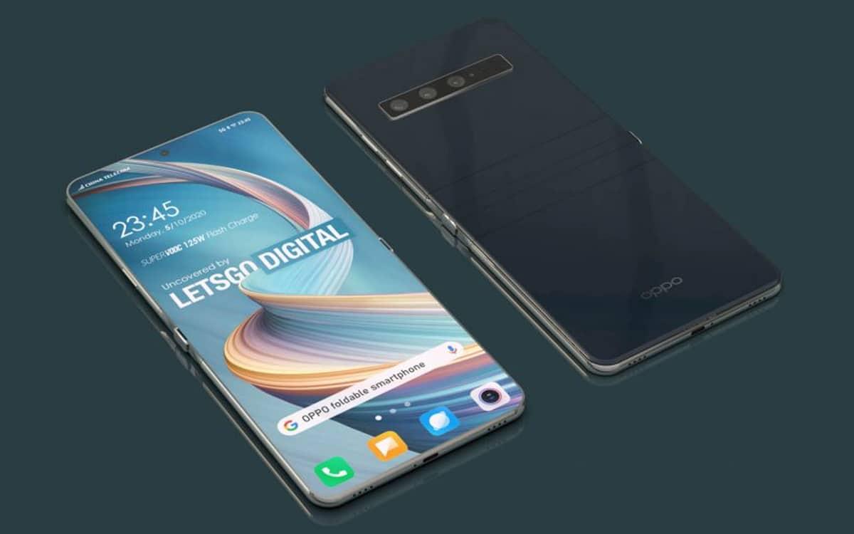oppo smartphone pliable copie