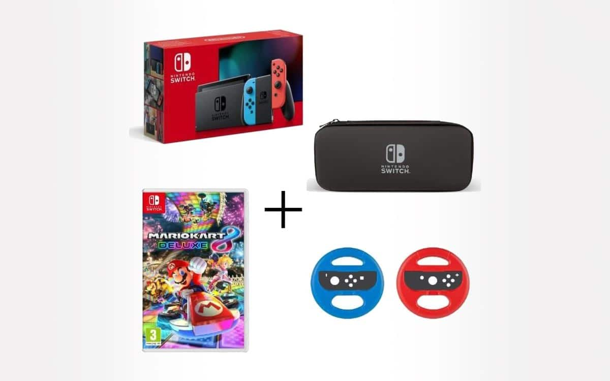 Black Friday Pack Nintendo Switch + Mario kart 8 et volants