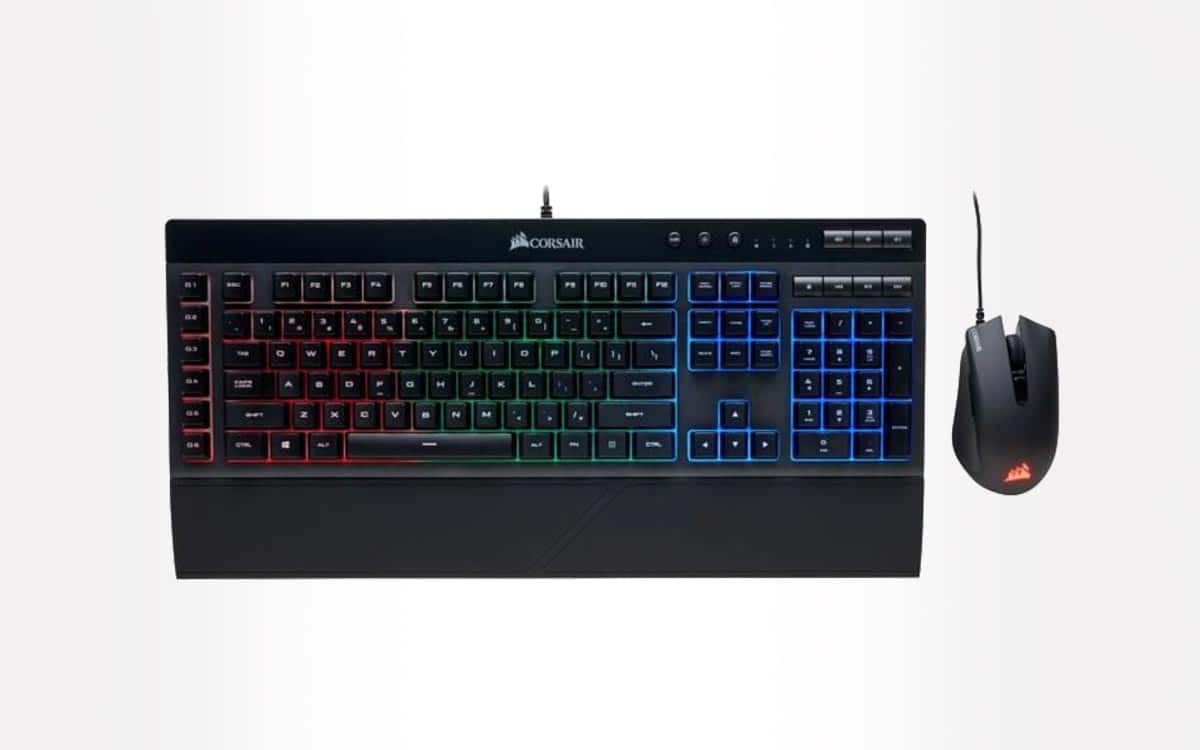 Pack Corsair k55 keyboard and gamer-harpoon mouse