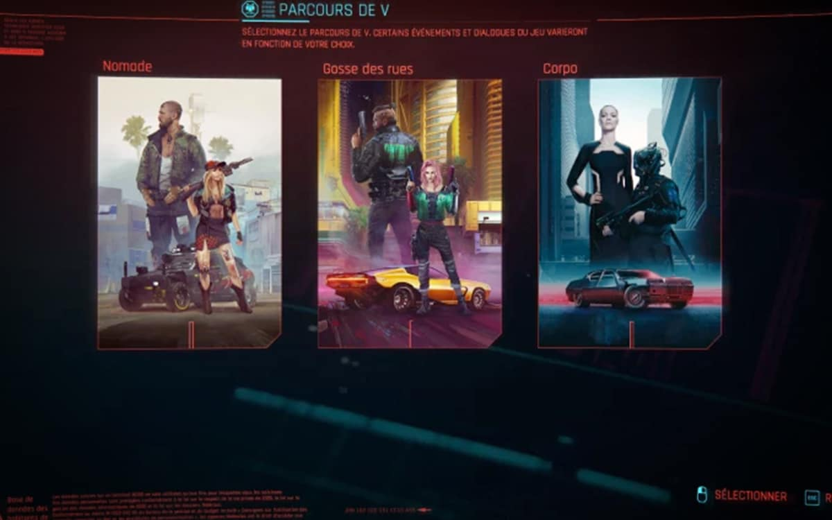 parcours de vie cyberpunk 2077