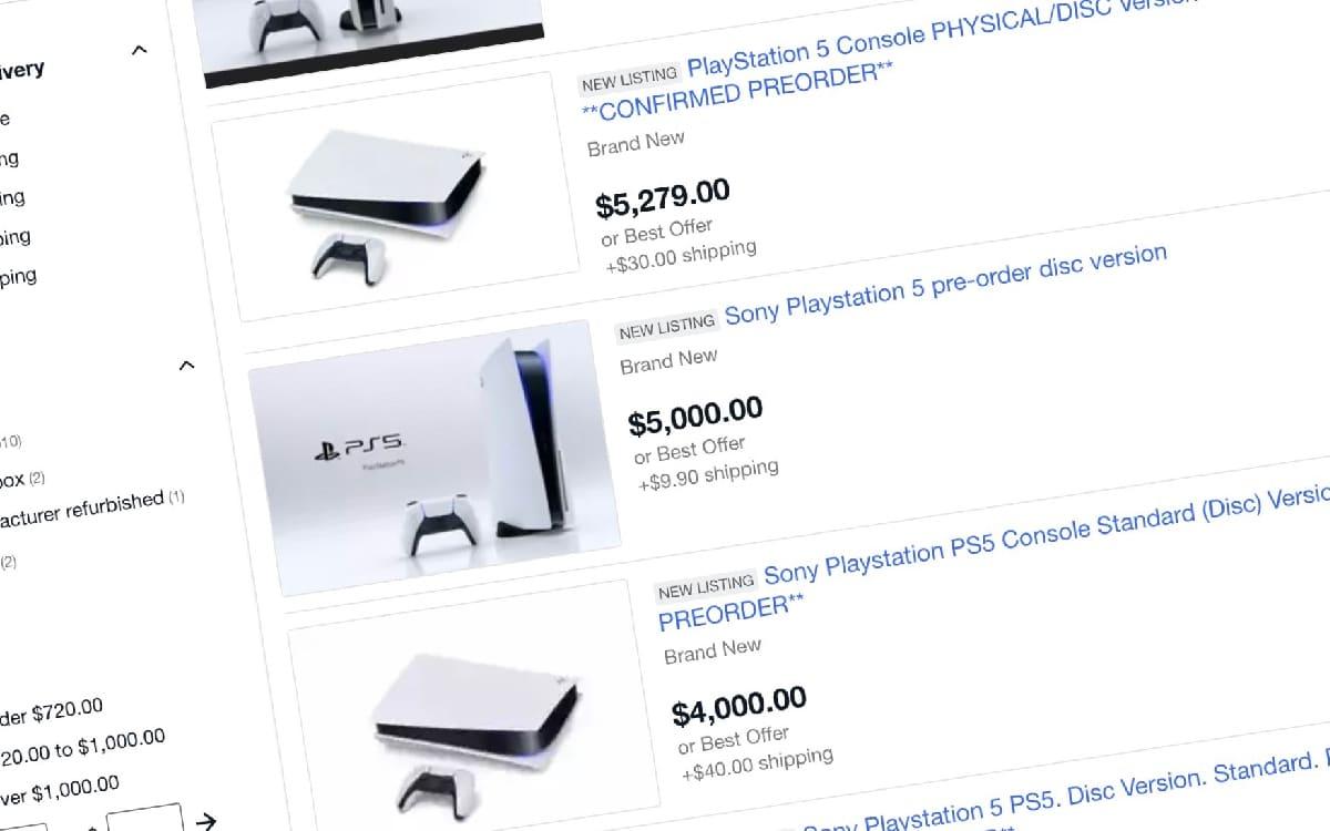 PS5 ebay