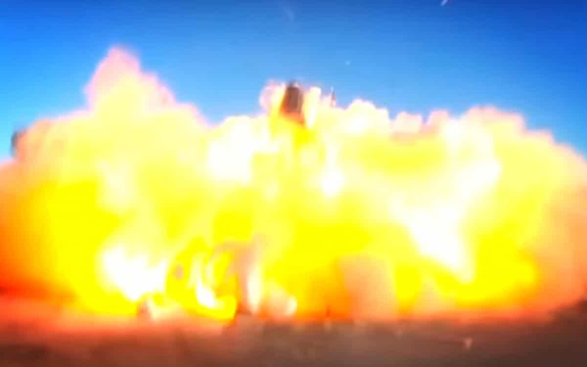 Starship SN8 explosion