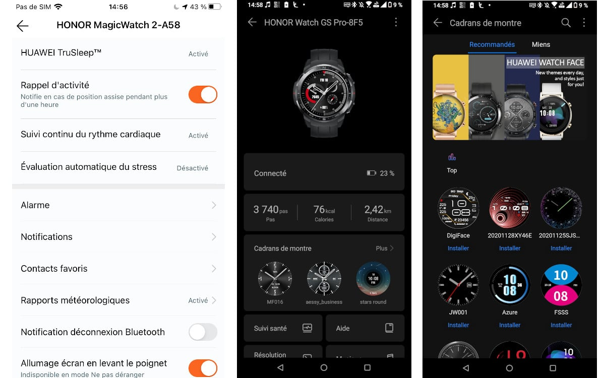 test honor watch gs pro application 4