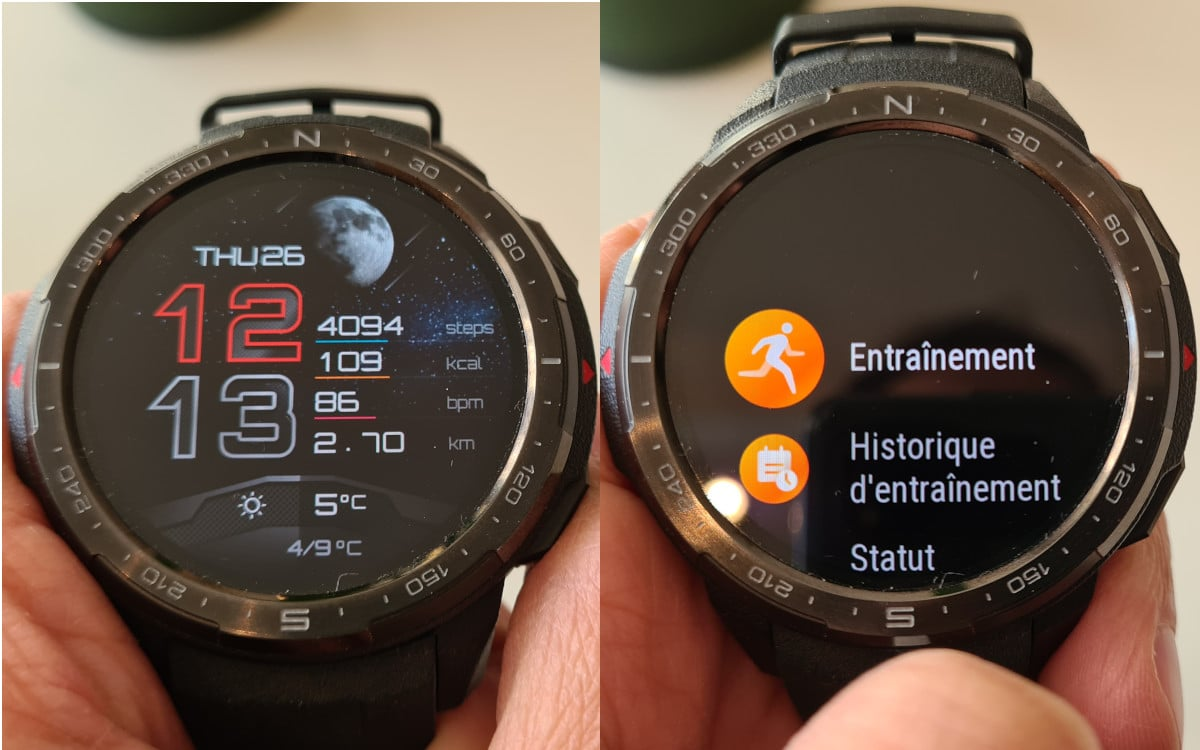 test honor watch gs pro interface 2