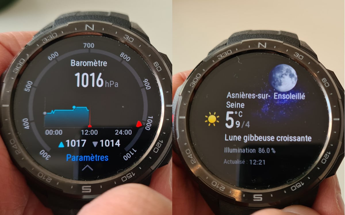 test honor watch gs pro interface 4