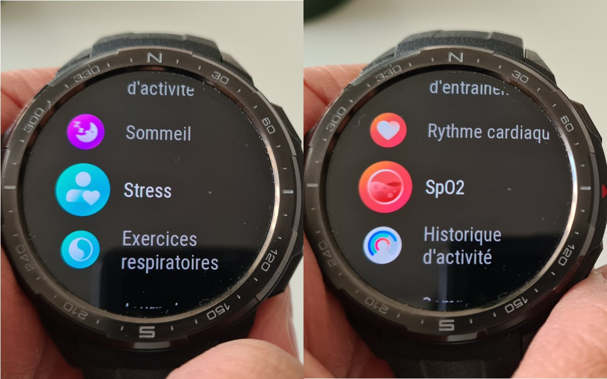 test honor watch gs pro interface 6