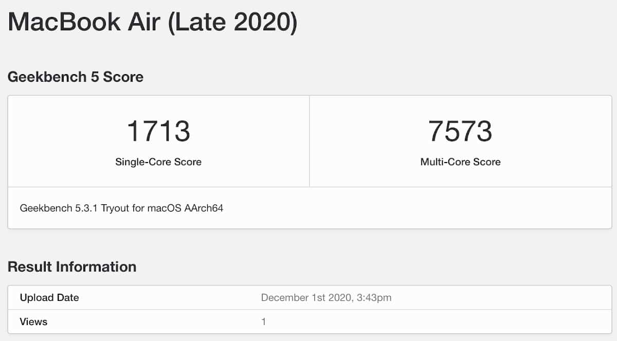 macbook air m1 performance test 1