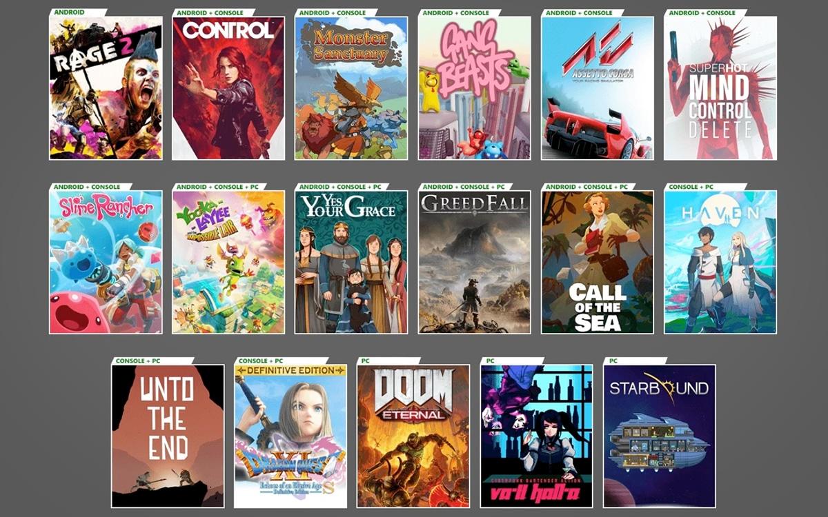 Xbox Game Pass Décembre