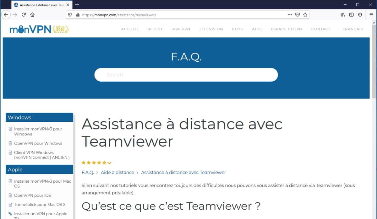 MonVPN teamviewer