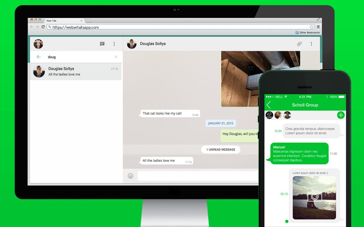 WhatsApp Desktop et mobile