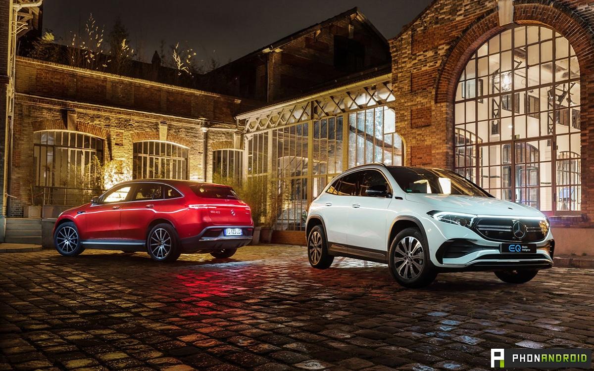 Mercedes EQA et EQC