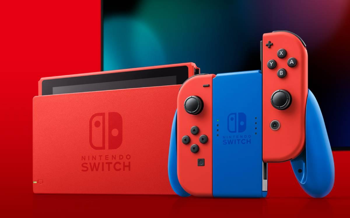 Nintendo Switch édition limitée Mario en soldes