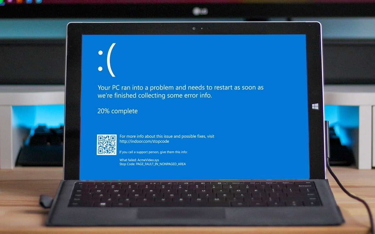 Windows 10 ecran bleu de la mort