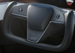 Tesla new Model S picture steering wheel 1