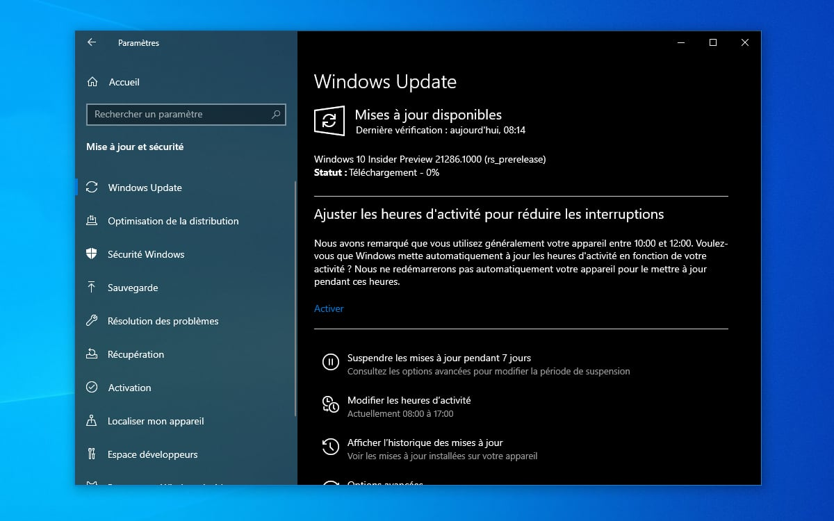 Windows 10 telecharger build 21286