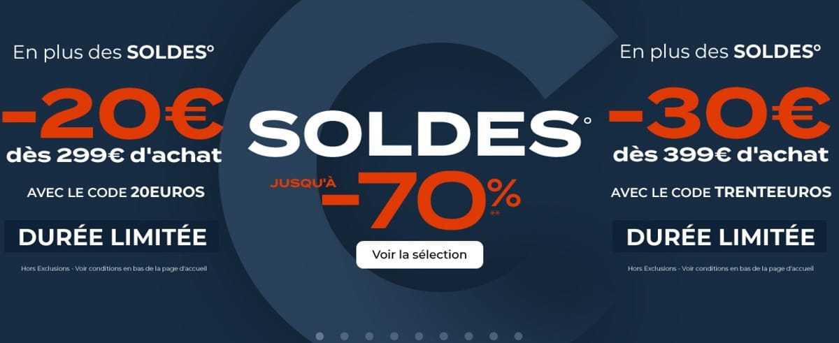 code promo soldes hiver Cdiscount