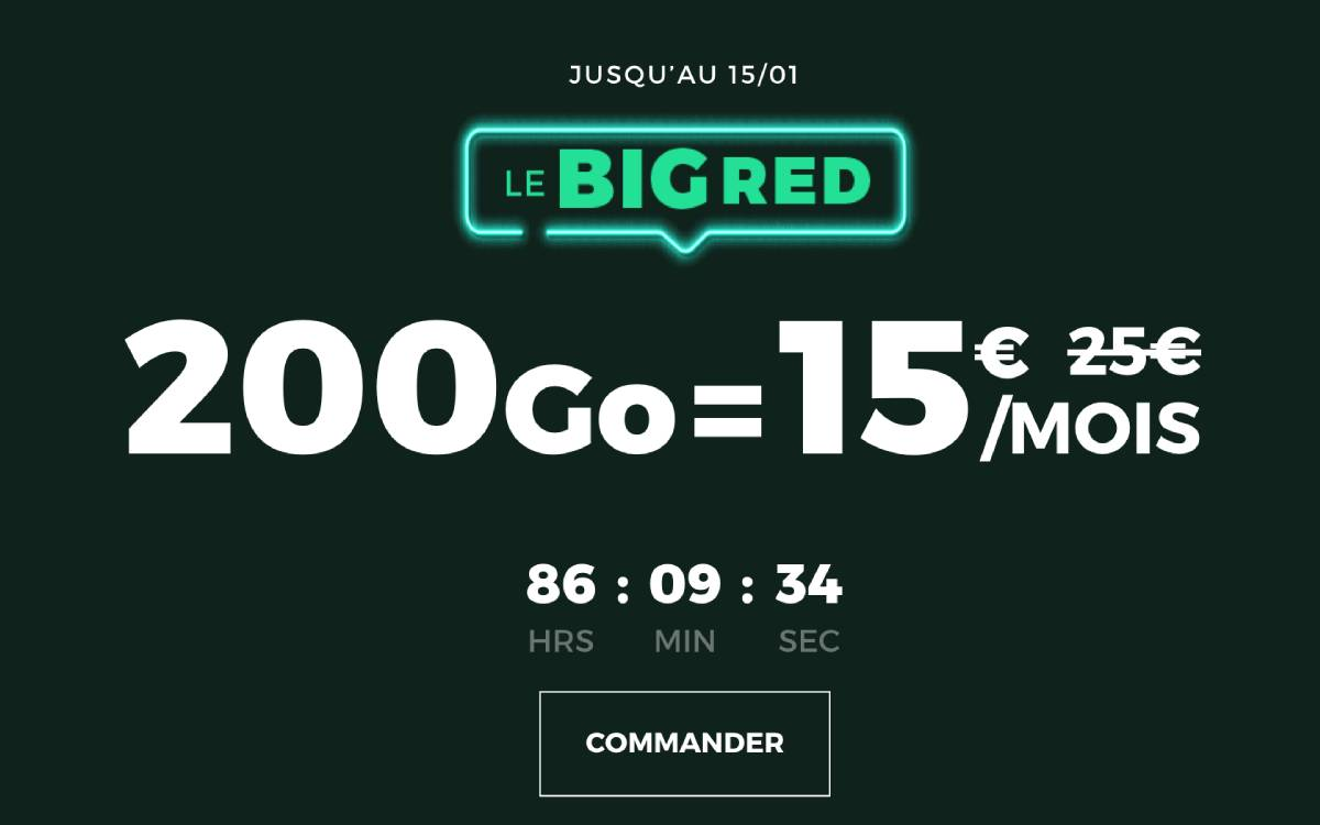 forfait RED by SFR 200 Go janvier 2021