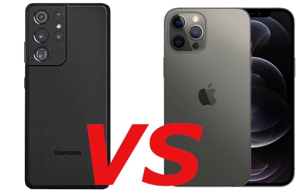 galaxy s21 ultra vs iphone 12 pro max cover
