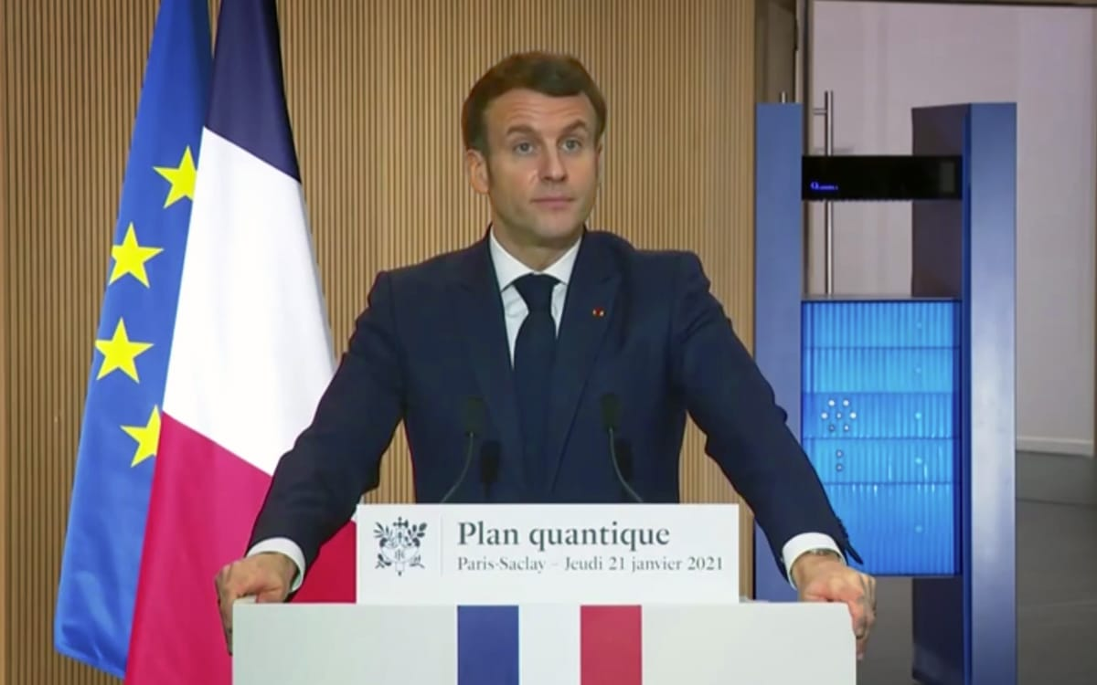 Emmanuel Macron Plan Quantique