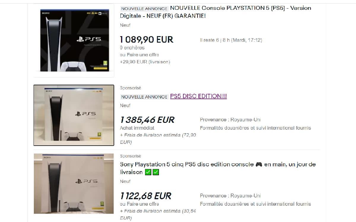 PS5 sur eBay