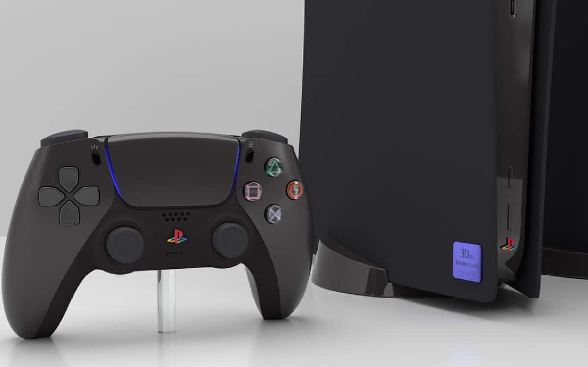 PS5 skin noir