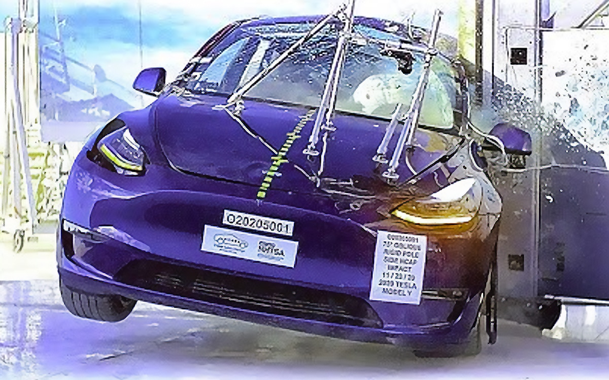 Tesla Crash Test Model Y