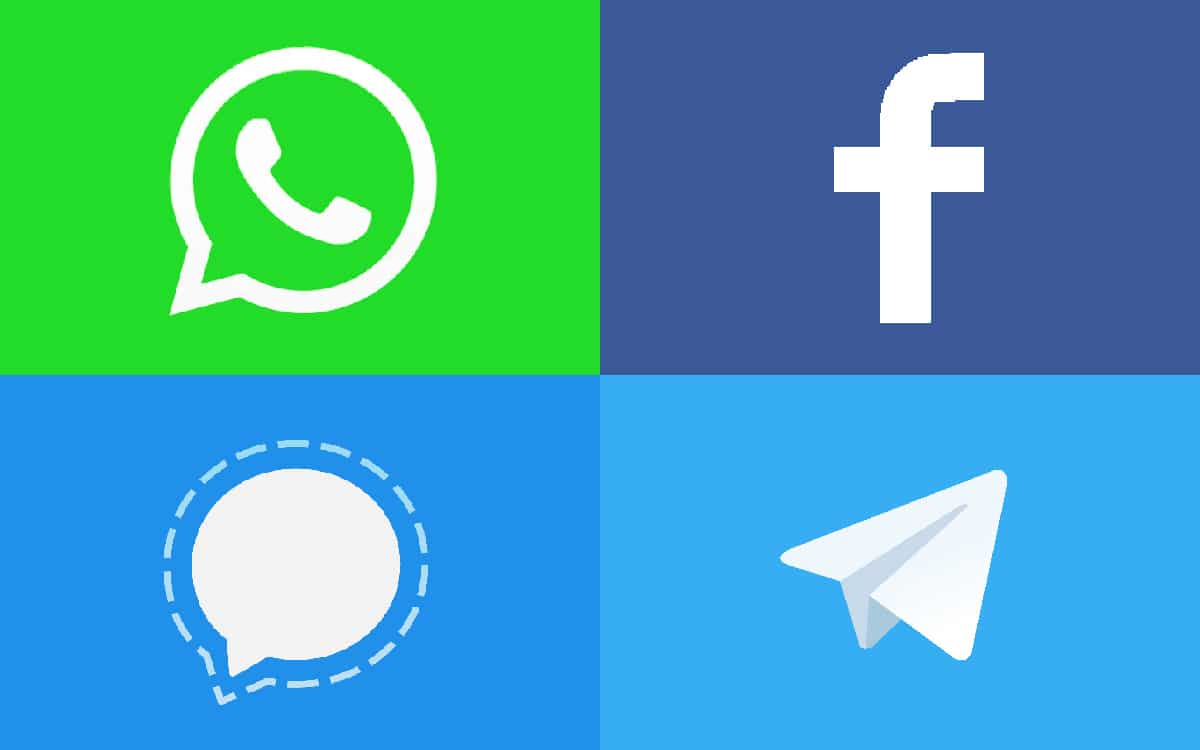 WhatsApp Facebook Signal Telegram