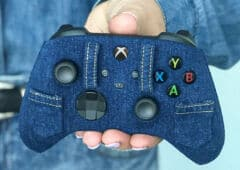 xbox series x manette recouverte jeans