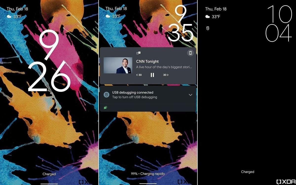 Android 12 : nouvel écran de verrouillage et panneau de notification revu, découvrez les nouveautés - PhonAndroid
