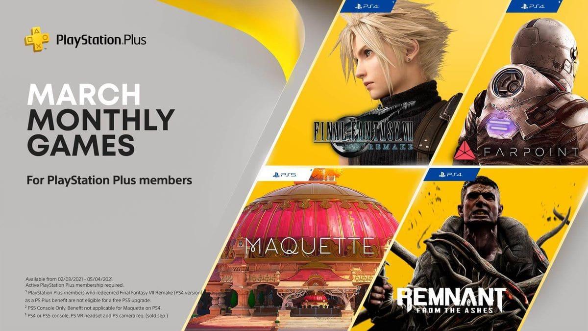 PlayStation Plus mars 2021 jeux offerts
