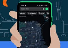 google maps mode sombre android