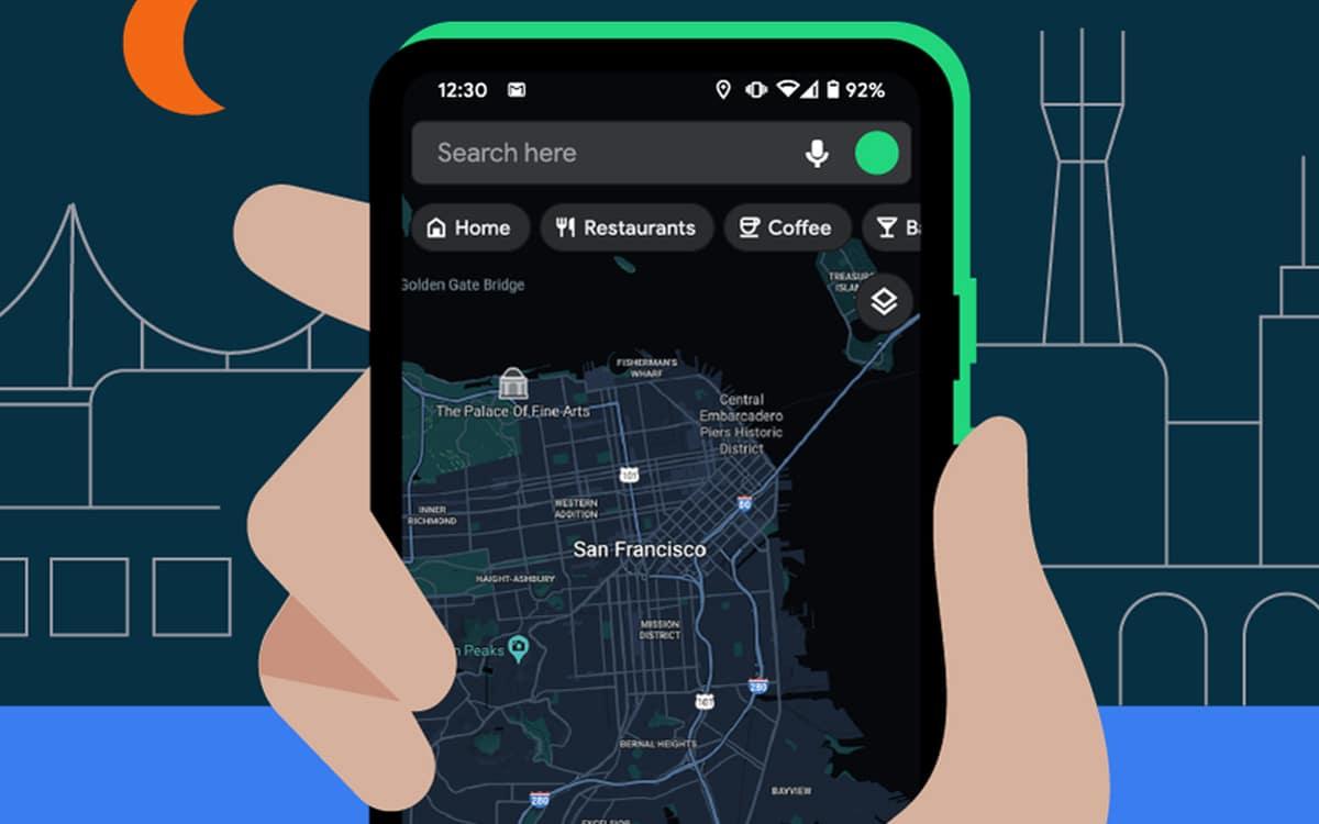 Google Maps sur Android : le mode sombre est enfin disponible, comment l'activer ? - PhonAndroid