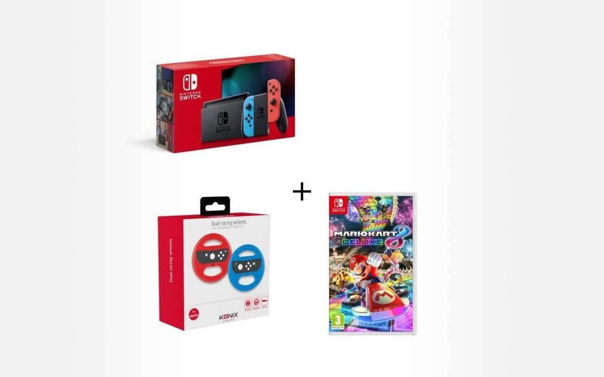 pack Switch Mario Kart 8 Deluxe volants pas cher