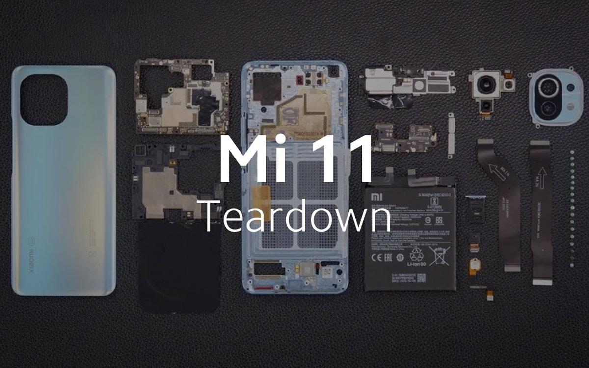 Xiaomi Mi 11 démontage officiel teardown