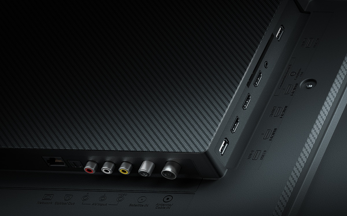 """Xiaomi Mi TV Q1 75"""" connectique"""