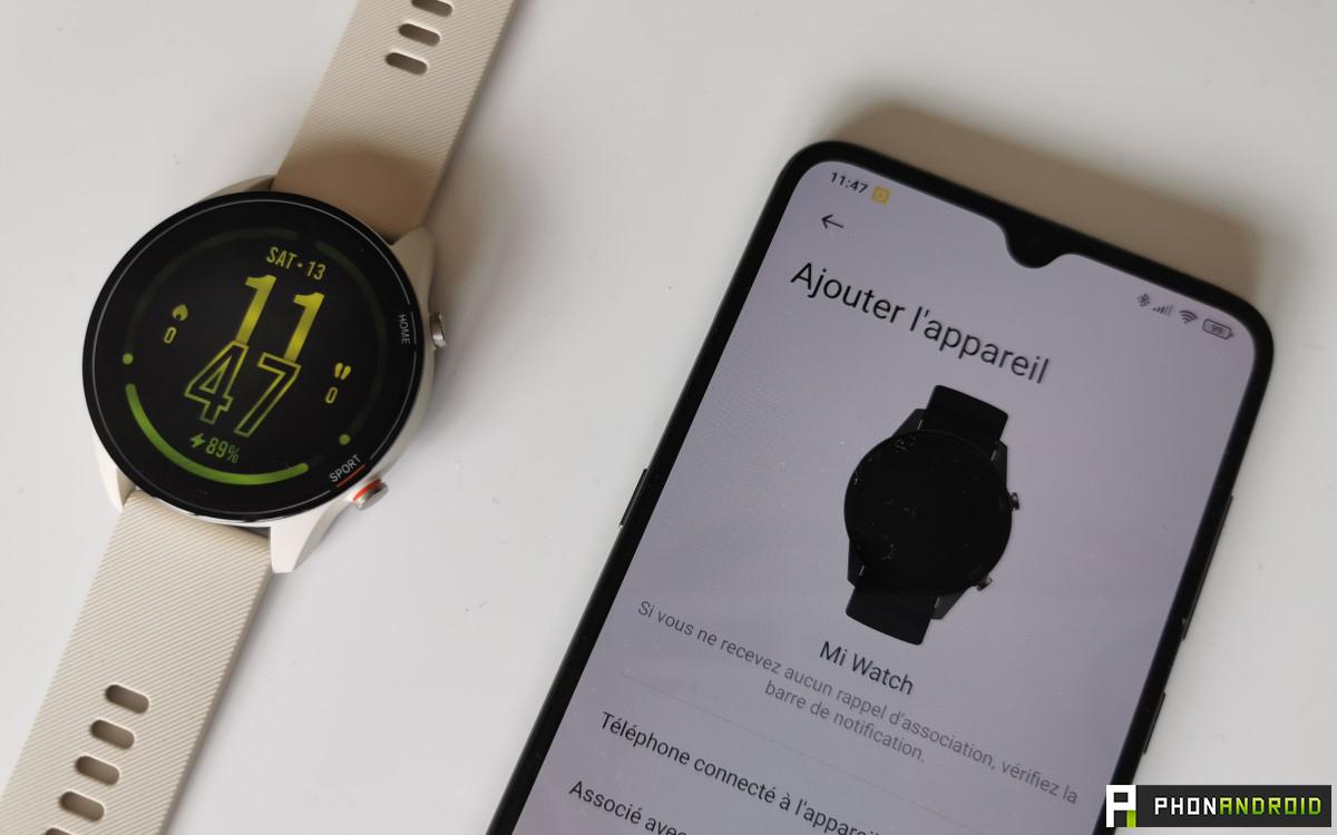 Xiaomi Mi Watch Assosciation avec appli