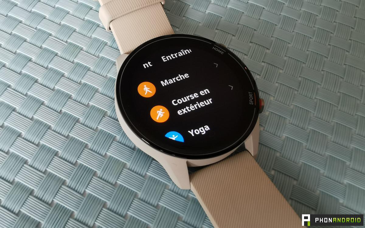 Xiaomi Mi Watch entrainement