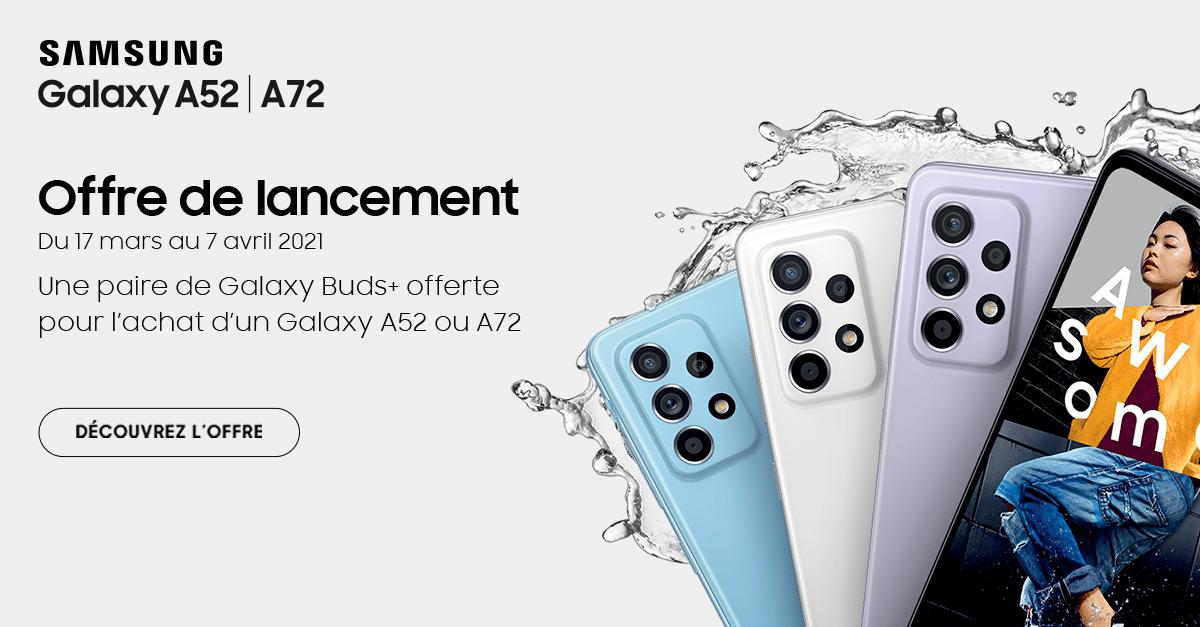Galaxy A52 A72 offre