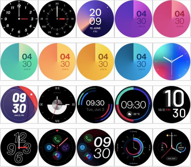 OnePlus Watch cadrans