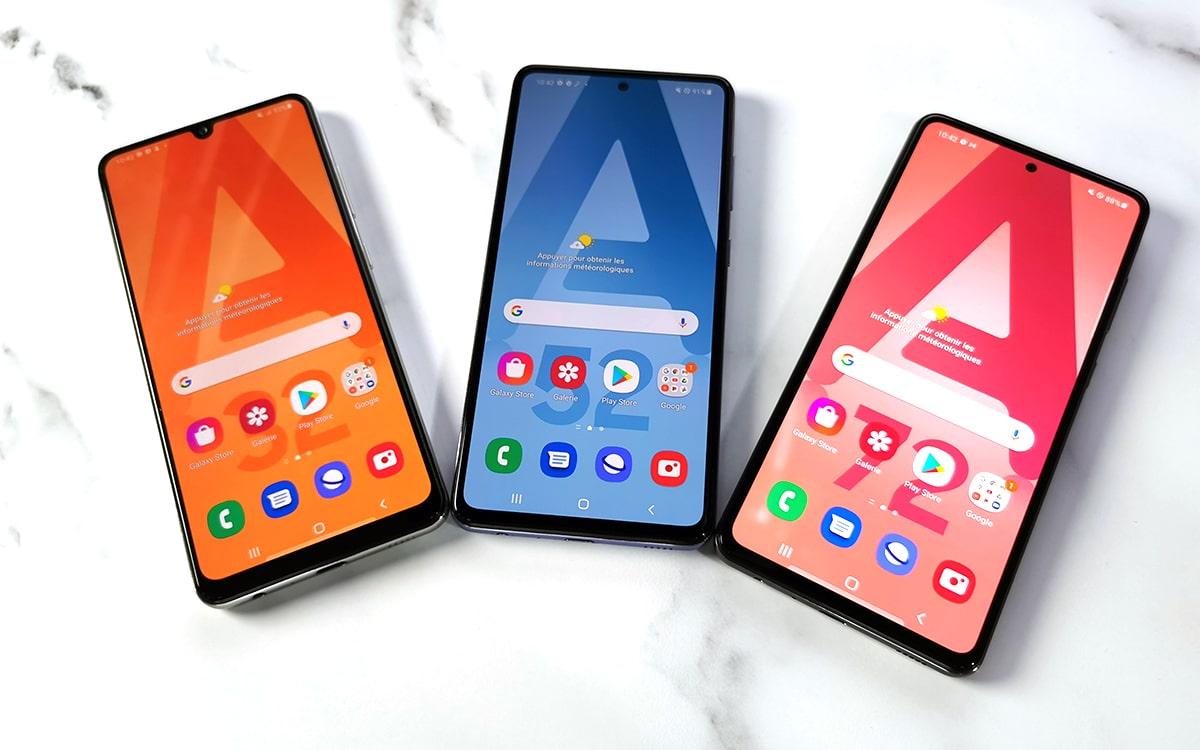 Samsung Galaxy A32 et A52 5G et Galaxy A72