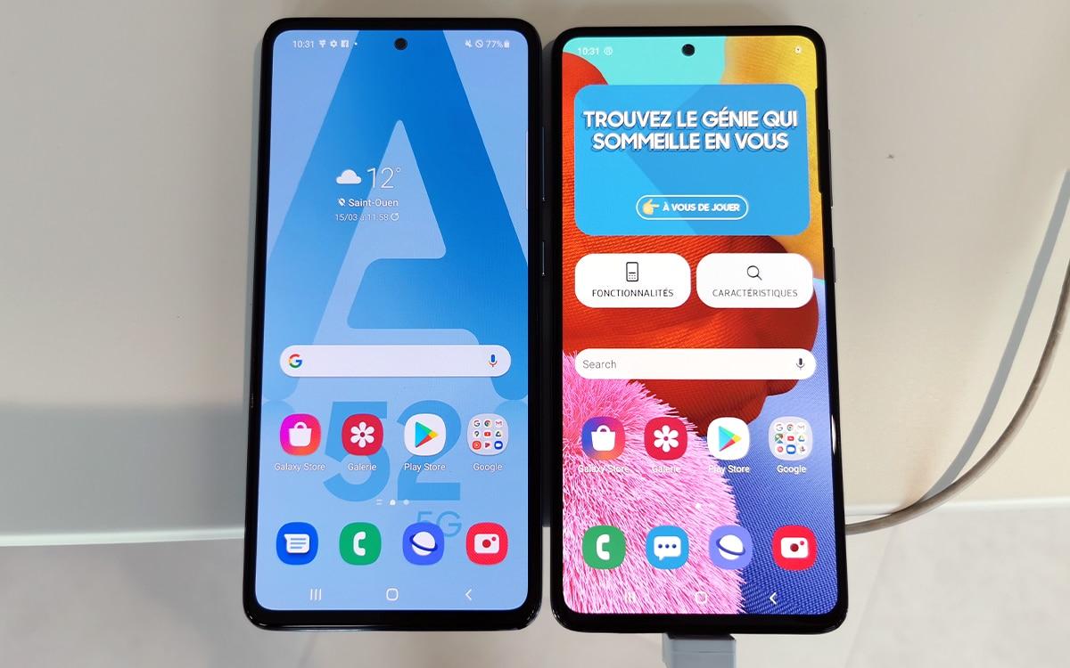 Samsung Galaxy A52 5G et Galaxy A51