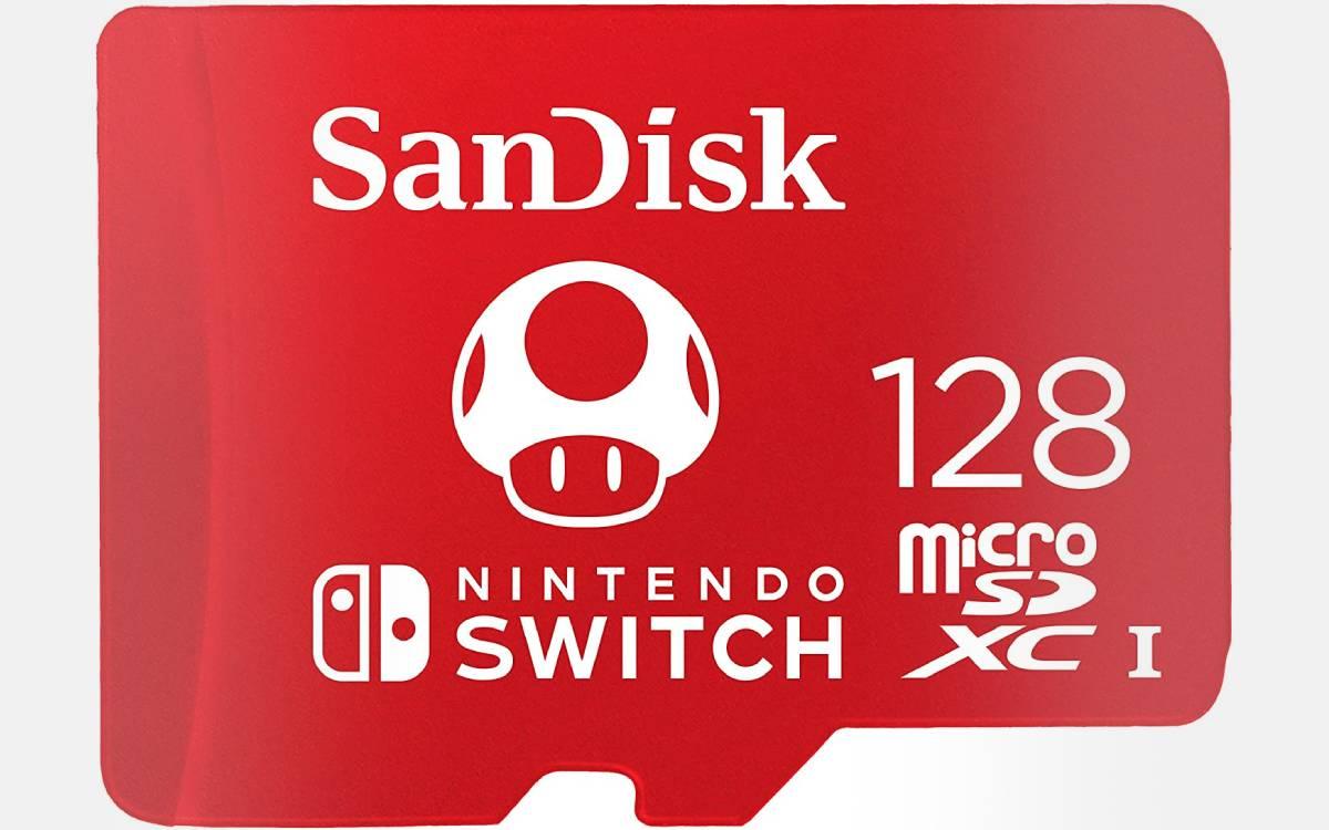 carte SanDisk pour Nintendo Switch 128 Go